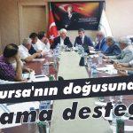 Bursa'nın doğusuna sulama desteği!