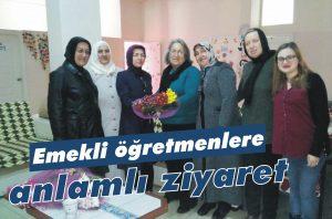 Emekli öğretmenlere anlamlı ziyaret