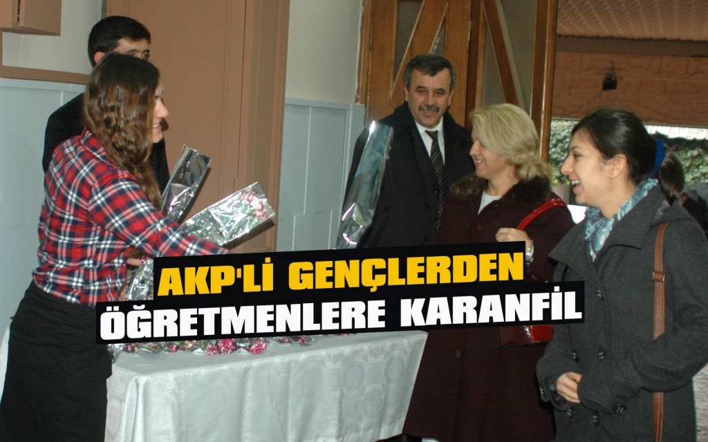 AKP'li gençlerden öğretmenlere karanfil