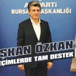 Başkan Özkan'a seçimlerde tam destek