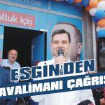 AKP'li vekilden havalimanı çağrısı