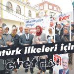 Atatürk ilkeleri için 'evet'miş!