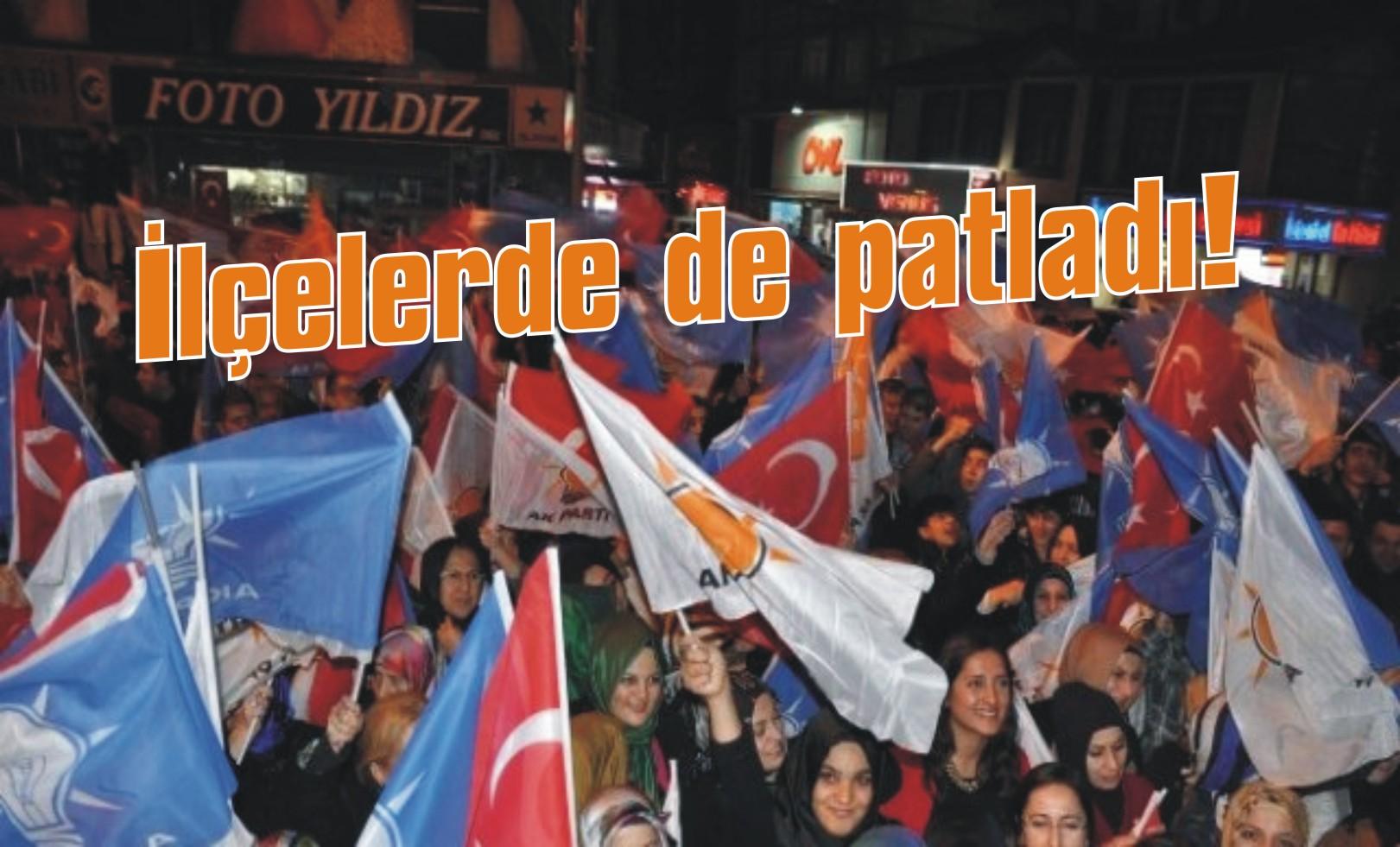 AK Parti ilçelerde de oyunu artırdı