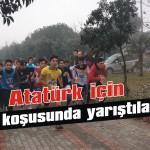 Atatürk için kır koşusunda yarıştılar