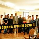 Başkan Özkan'a sporcu desteği