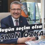 Bugün seçim olsa 'Başkan Özkan'