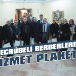 Tecrübeli berberlere hizmet plaketi