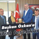 Başkan Özkan'a 'eğitim teşekkürü'