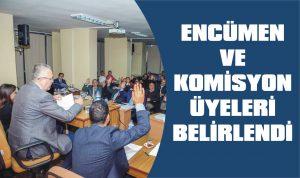 Encümen ve komisyon üyeleri belirlendi