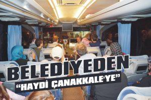 """Belediyeden """"Haydi Çanakkale'ye"""" gezisi"""