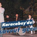 Karacabey'de tasavvuf gecesi
