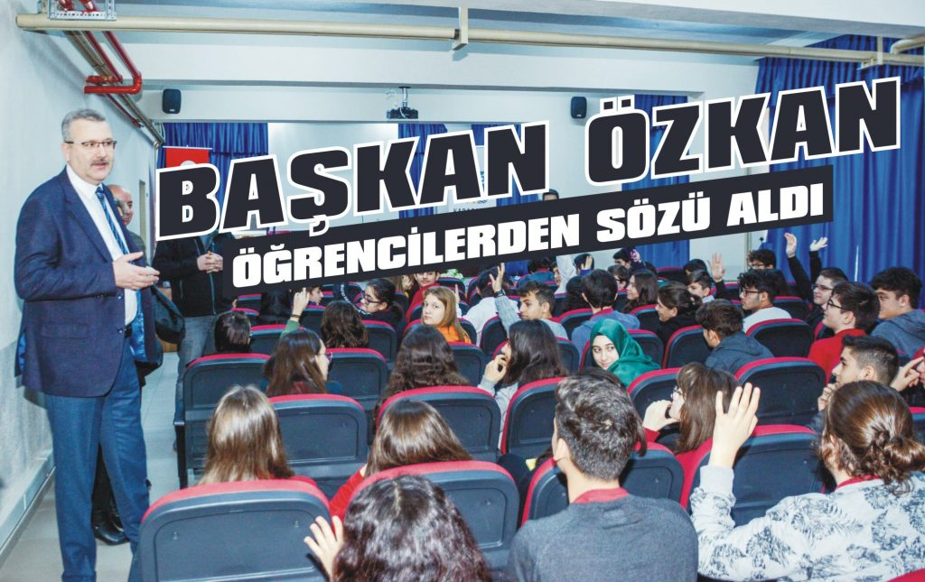 Başkan Özkan öğrencilerden sözü aldı