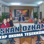 Başkan Özkan'a kitap okuma teşekkürü