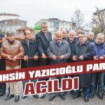 Muhsin Yazıcıoğlu Parkı açıldı