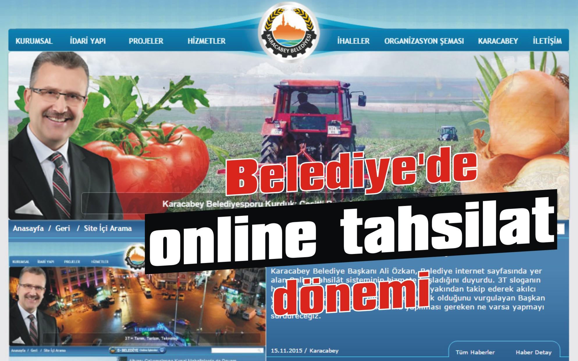 Belediye'de online tahsilat dönemi