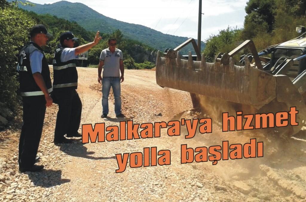 Malkara'ya hizmet yolla başladı