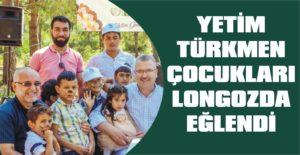 Yetim Türkmen çocukları longozda eğlendi
