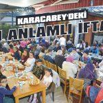 Karacabey'deki en anlamlı iftar