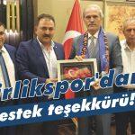 Birlikspor'dan destek teşekkürü!