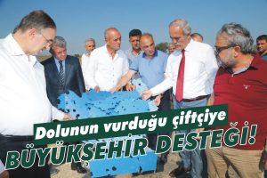 Mağdur çiftçiye Büyükşehir desteği!