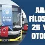 Araç filosuna 25 yeni otobüs