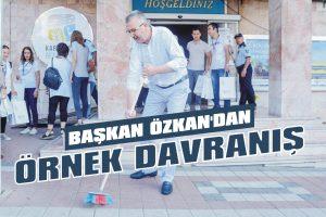 Başkan Özkan'dan örnek davranış