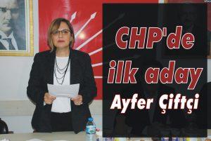 CHP'de ilk aday Ayfer Çiftçi