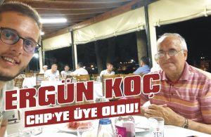 Ergün Koç CHP'ye üye oldu!