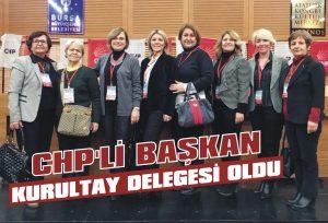 CHP'li başkan kurultay delegesi oldu