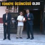 PYBS'de Türkiye üçüncüsü oldu