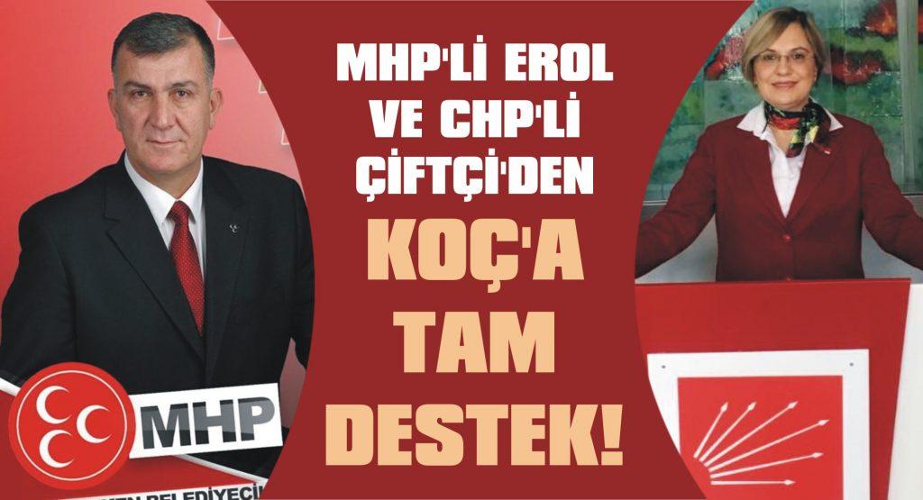 MHP'li Erol ve CHP'li Çiftçi'den Koç'a destek!