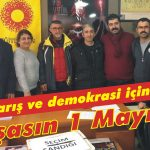 Barış ve demokrasi için yaşasın 1 Mayıs!