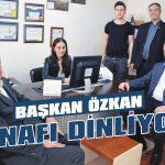 Başkan Özkan esnafı dinliyor