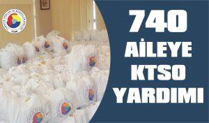 KTSO'dan 740 aileye erzak yardımı
