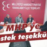 MHP'ye destek teşekkürü