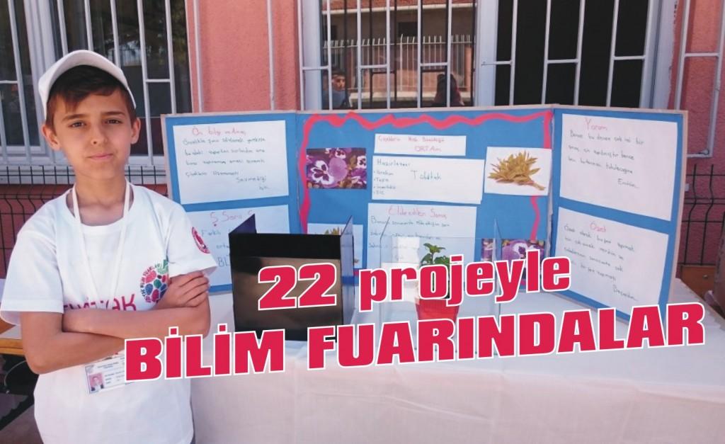 22 projeyle bilim fuarındalar