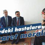 Evdeki hastalara ziyaret morali