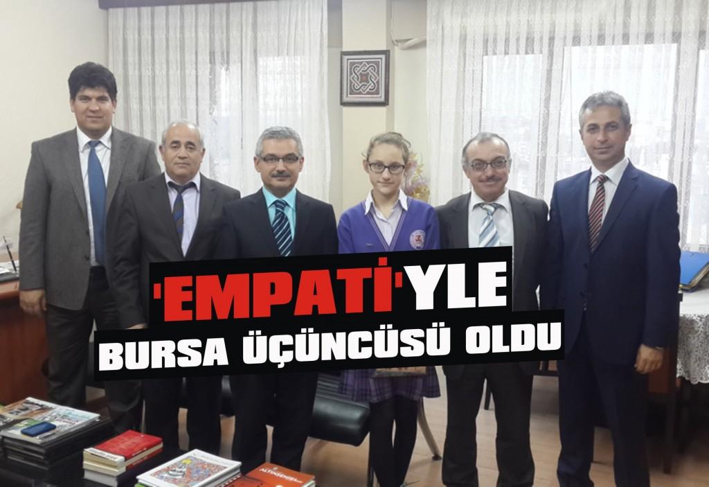 'Empati'yle Bursa üçüncüsü oldu