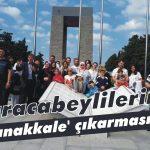 Karacabeylilerin 'Çanakkale' çıkarması