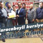 Karacabeyli kursiyerler sertifikalandı