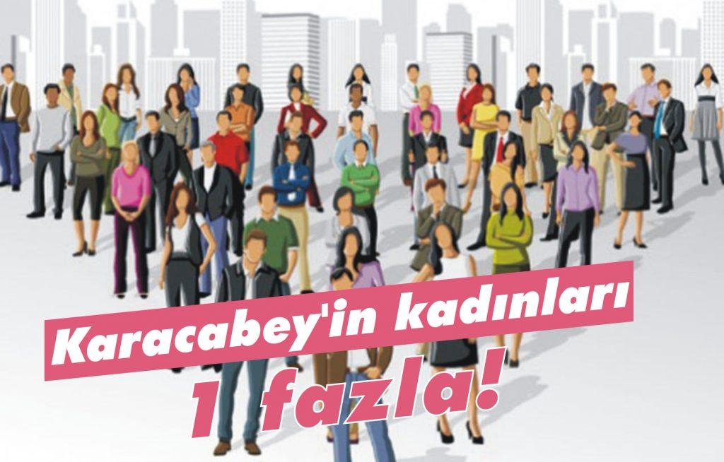 Karacabey'in kadınları 1 fazla!
