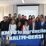KMYO'lu öğrencilere kalite dersi