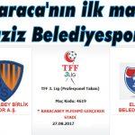 Karaca'nın ilk maçı Elaziz Belediyespor'la