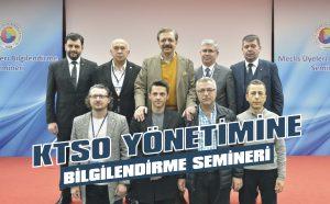 KTSO yönetimine bilgilendirme semineri