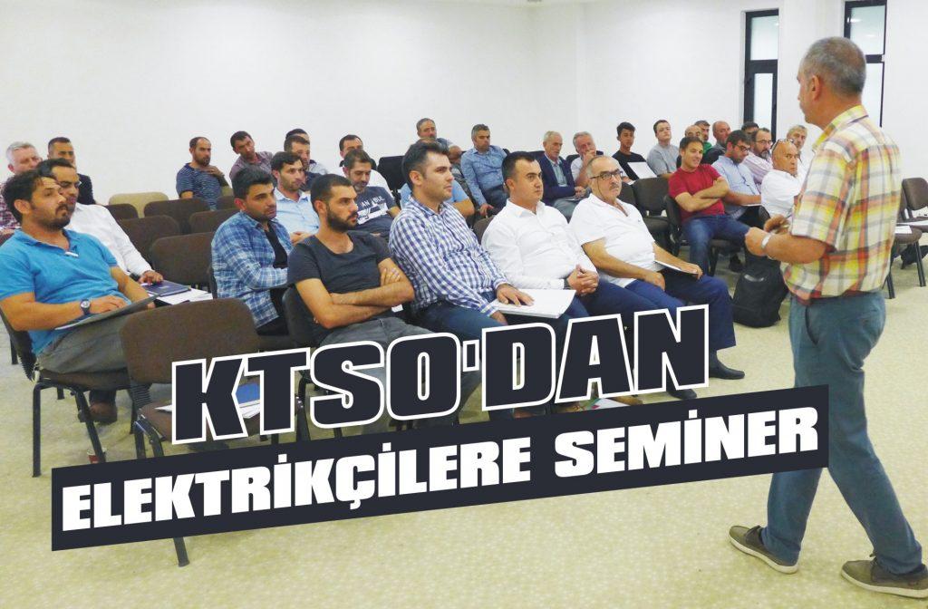 KTSO'dan elektrikçilere seminer