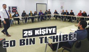 25 kişiye 50 bin TL hibe!