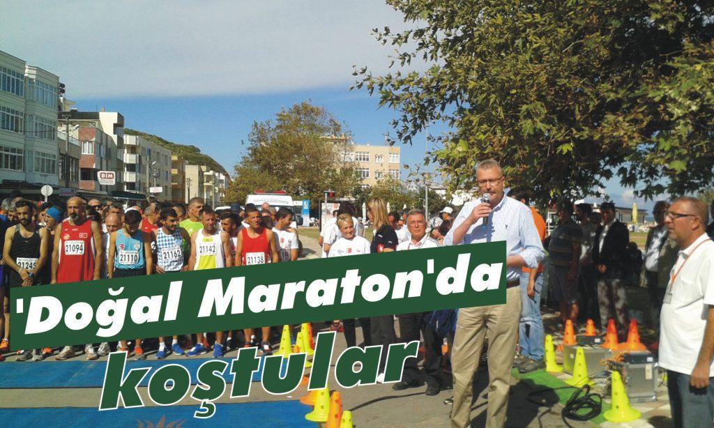 Atletler 'doğal maraton'da koştu