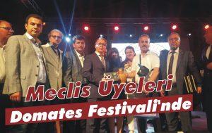 Meclis Üyeleri 'Domates Festivali'nde