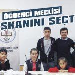Öğrenci meclisi başkanını seçti