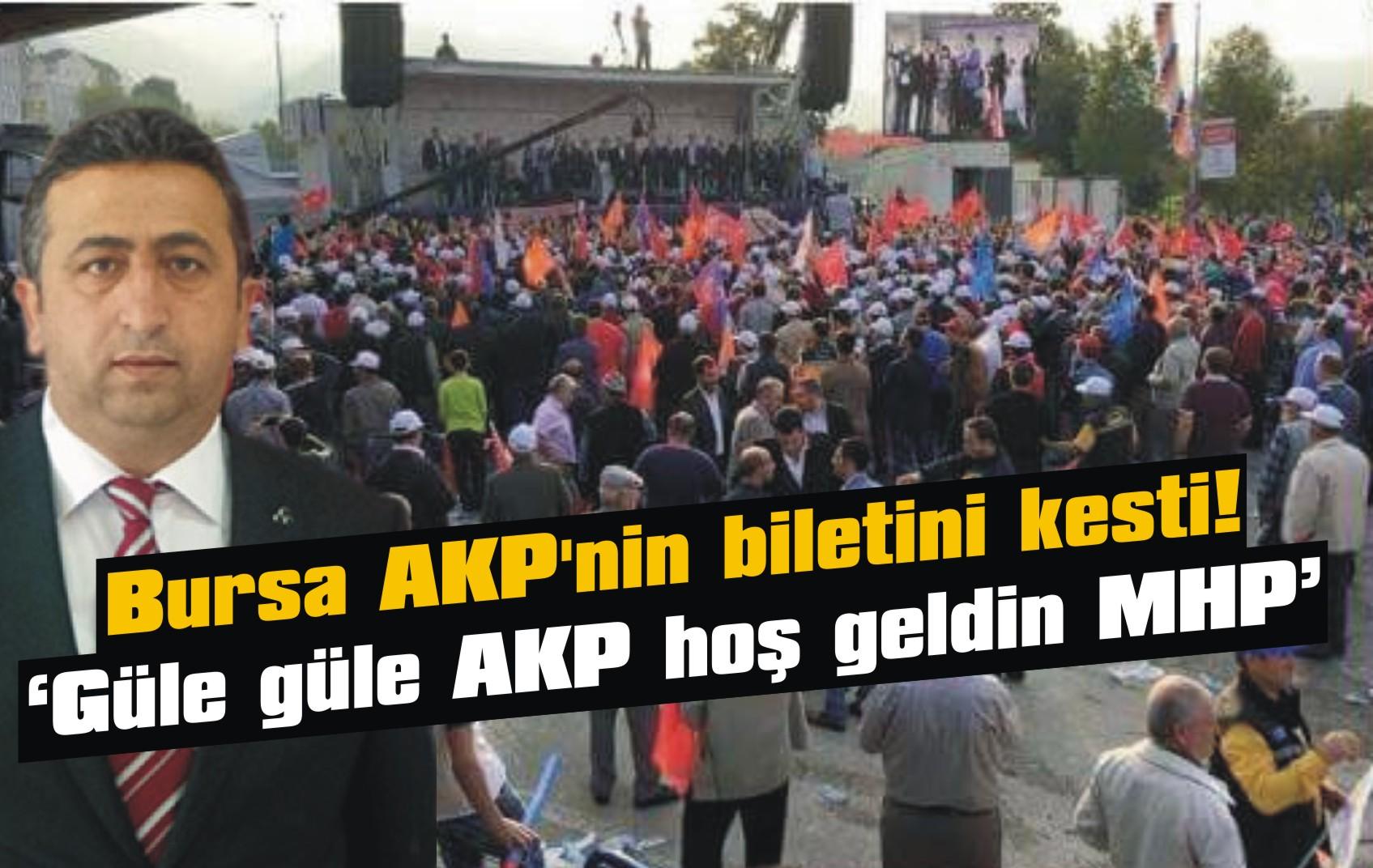 Bursa AKP'nin biletini kesti